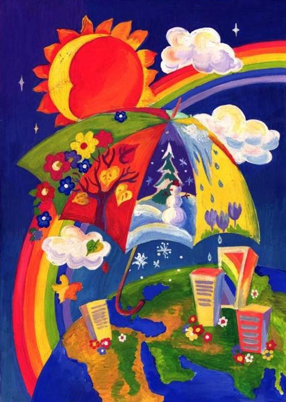 Рисунки на выставку мир во всём мире